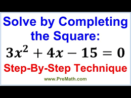 solve by completing the square step by