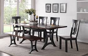 dining set for 6 crown mark d2105 astor victorian rustic finish dining set with bench