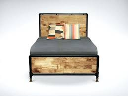 dark wood double bed frame dark wood double bed frame best of pipe bed frame for