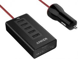 Купить автомобильное <b>зарядное устройство Anker PowerDrive</b> 5 ...