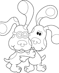 Small Picture Blues Clues Coloring Page Coloring Pages For Kids