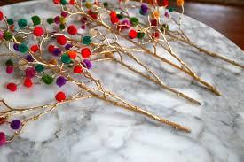 pompom branches craft christmas