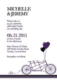 Wedding Invitations Templates Purple Purple Tandem Bike Wedding Invitation Template Wedding Invitation