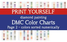 You can choose at least one to be a brand color, which gives you significant flexibility. Printable Pdf Dmc Color Chart Sorted By Color Number 2 In 1 Etsy