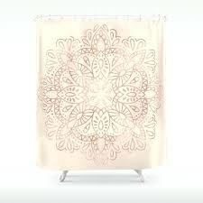 fascinating gold and cream shower curtain images ideas house cream shower curtain mandala rose gold pink cream shower curtain