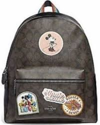 NEW WOMEN S COACH X DISNEY (F29355) MINNIE MOUSE SIGNATURE LEATHER BACKPACK  BAG