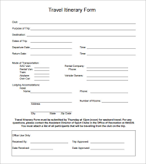 Itinerary Travel Template Sample Holiday Itinerary Template 7 Documents Download In Word