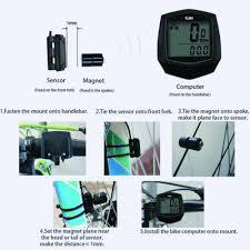 Bike Computer <b>Waterproof Digital LCD</b> Bicycle Speedometer ...