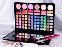 aliexpress 60 color makeup full color eyeshadow palette kit eye beauty makeup set 12 color lip gloss 6 color face highlight brush from reliable