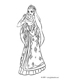 Coloriage Princesse Rose