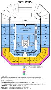 Brisbane Entertainment Centre Seating Map Color 2018