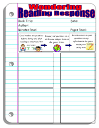 reading response forms and graphic organizers scholastic asking questions wondering