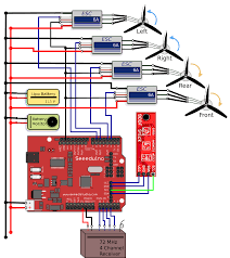 wiring diagram of the electronic components of the quadcopter wiring diagram of the electronic components of the quadcopter electrical engineering blog