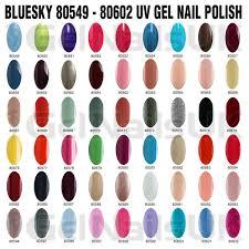 Details About Bluesky Gel Nail Polish Uv Led Soak Off Colour 10ml Bottle Manicure Free Postage
