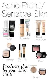 basic face makeup acne e sensitive skin by fivesecondsofinspiration
