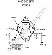 Wiring diagram for an alternator