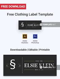 Free Clothing Label Label Templates Designs 2019 Templates