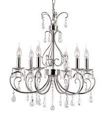 trans globe lighting 70366 pc chic noureau 6 light 23 inch polished chrome chandelier ceiling
