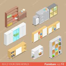 isometric office furniture vector collection. Office Furniture Set Cupboard Folder Shelf Storage Closet Cabinet Chest Locker Element Flat 3d Isometry Isometric Concept Web Infographics Vector Collection N