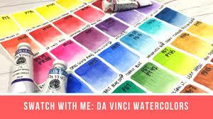 Swatch With Me Da Vinci Watercolors 40 Colors