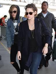 Kristen Stewart Alicia Cargile Catch A Flight At LAX OCEANUP.