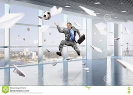 Playing Office Soccer Mixed Media Stock Photo Image Of Corporate