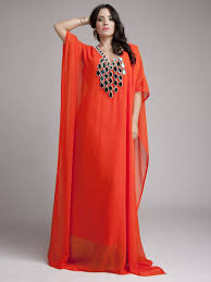 Islamic Style Kaftan Shop Online Morroco Orange Designer