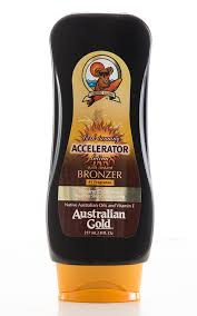 Bronzer accelerator tanning lotion