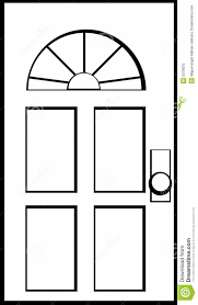 front door clipart black and white. White Door Clipart Front Black And .