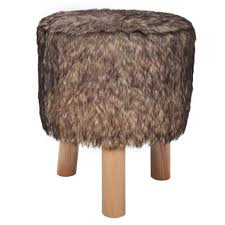 foot stool plush round footrest ottoman seat home footstool wooden chair sofa