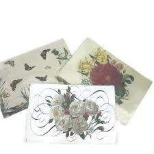 Designer Paper Placemats Belle Banquets Designer Paper Placemats Floral Butterfly