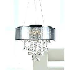white drum shade chandelier with crystals drum chandelier white drum shade chandelier with crystals