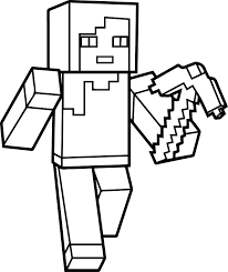 Small Picture Minecraft coloring pages alex ColoringStar