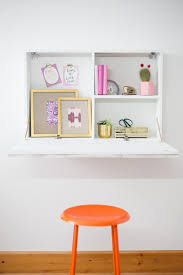 how to build a space saving wall mounted desk