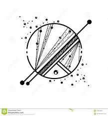 Saturn Planet Sketch Of Tattoo Stock Illustration Illustration