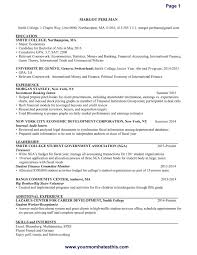 Download Template For Resume Reference Internship Resume Template