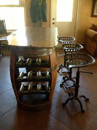 wine barrell furniture. wine barrel bar side barrell furniture