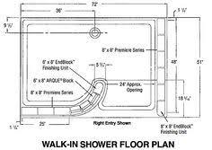 Glass Block Shower - Walk In Floor Plan