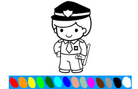 Policeman Coloring Pages Game Play Online At Kidonlinegamecom