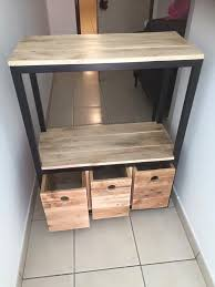 entryway table with drawers. upcycled wooden pallet hallway table with 3 drawers entryway