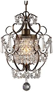 bronze and crystal chandelier. Whse Of Tiffany RL4025BR Rosalie 1-Light Antique Bronze 11 Inch Crystal Chandelier And D