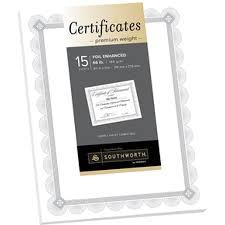 Awards Foil Enhanced Certificate Paper Quantity Of 6 Pt Ctp2w