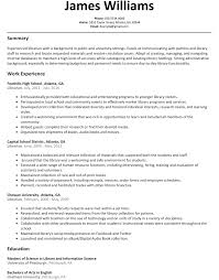 Librarian Resume Sample Resumelift Com