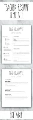 Editable Google Docs Teacher Resume Templates 3 For 1 Teachers