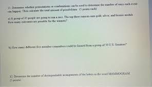 determine whether permutations