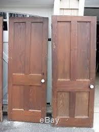 5 Vintage Oak Doors Solid Wood Door With Antique Porcelain Door Knob