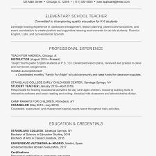 sample resume for a teacher sample cover letter and resume for a teacher