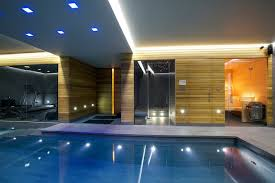 indoor swimming pool lighting. indoor luxury swimming pool surrey modernpool lighting