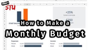 How To Make A Monthly Budget How To Make A Monthly Budget In Google Sheets