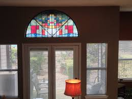 stained glass living room traditional with decorative window stain covering idea 17
